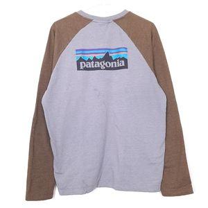 Patagonia logo spellout raglan sweatshirt